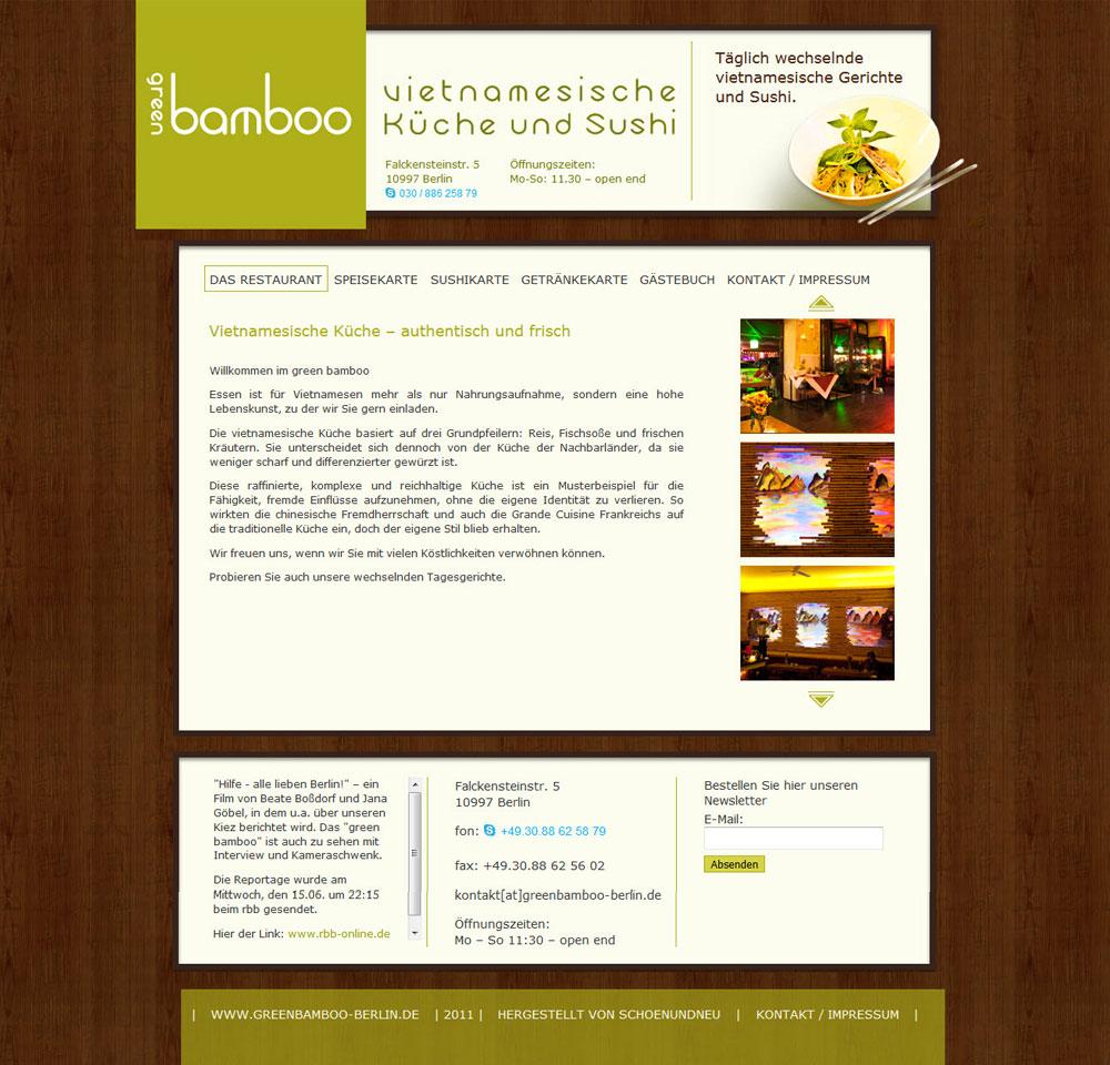 Restaurant Green Bamboo Berlin - schoenundneu