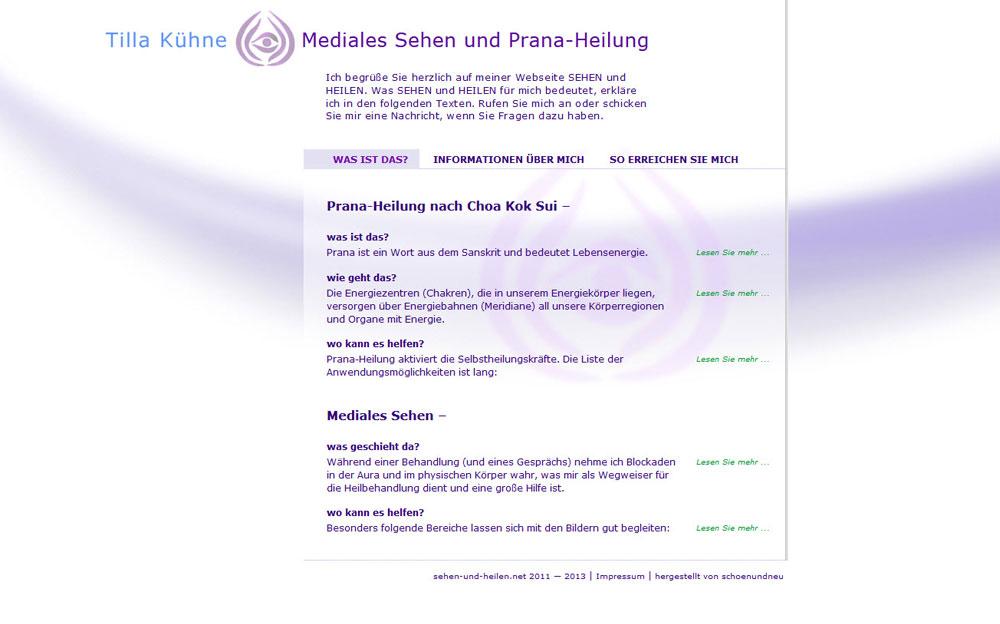 schoenundneu - Tilla Kühne - Sehen und Heilen