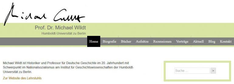 Website Prof. Dr. Michael Wildt